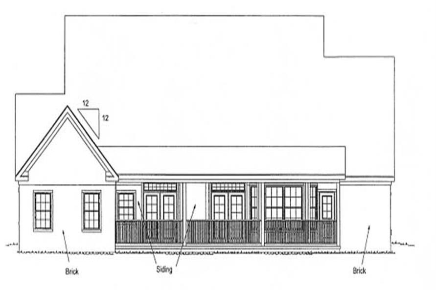 Home Plan Rear Elevation of this 5-Bedroom,3382 Sq Ft Plan -178-1191