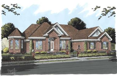 4-Bedroom, 4121 Sq Ft Country Home Plan - 178-1192 - Main Exterior
