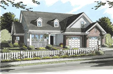 3-Bedroom, 1977 Sq Ft Cape Cod House Plan - 178-1194 - Front Exterior