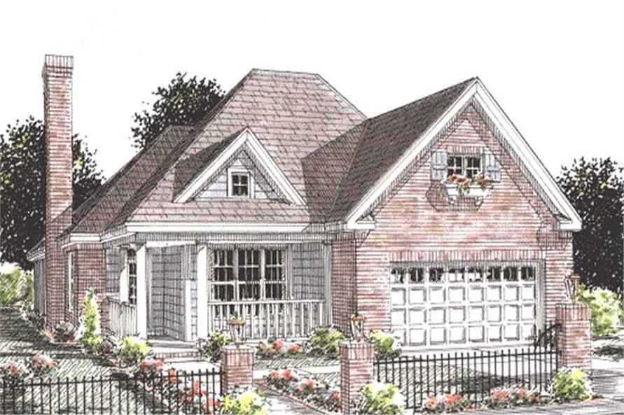 2-Bedroom, 1425 Sq Ft Country House Plan - 178-1195 - Front Exterior