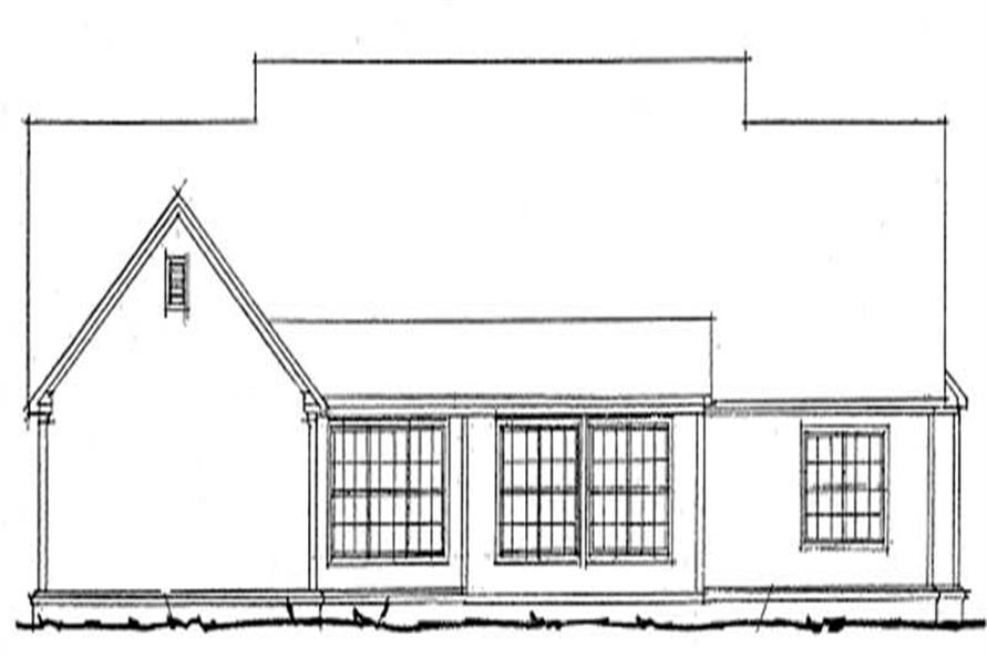 Home Plan Rear Elevation of this 3-Bedroom,2516 Sq Ft Plan -178-1196