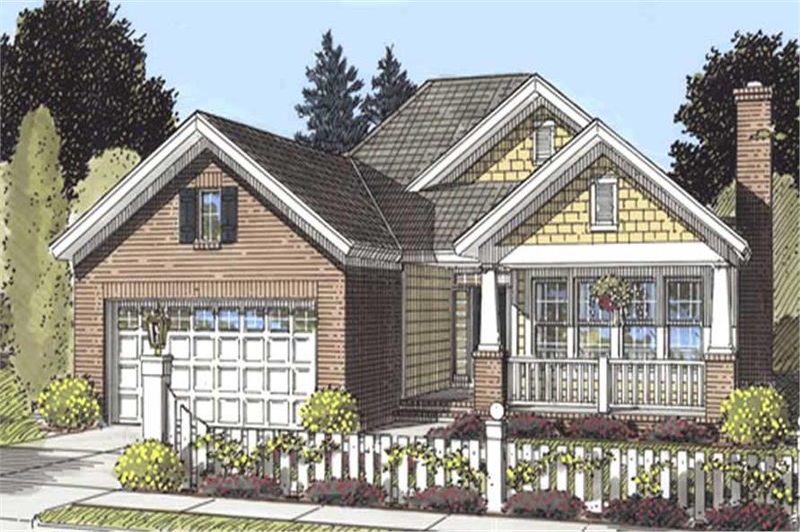 4-Bedroom, 1560 Sq Ft Country Home Plan - 178-1197 - Main Exterior