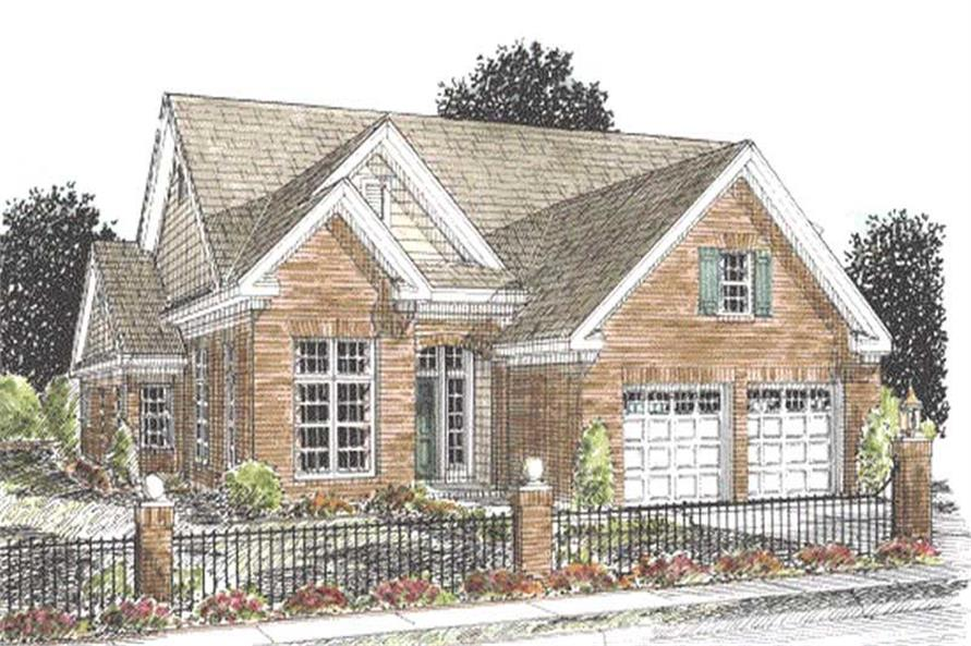 3-Bedroom, 2166 Sq Ft Ranch House Plan - 178-1198 - Front Exterior