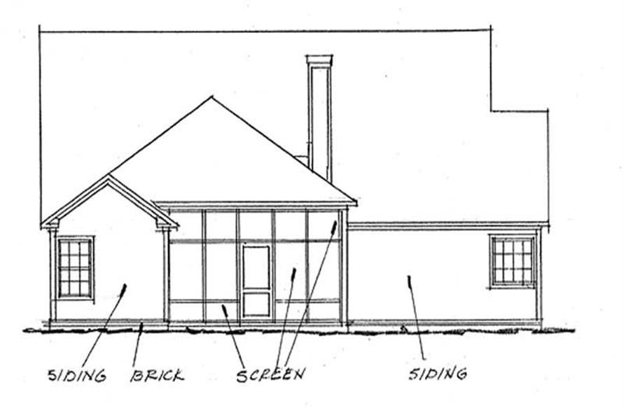 Home Plan Rear Elevation of this 3-Bedroom,2166 Sq Ft Plan -178-1198