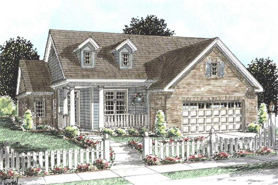 3-Bedroom, 1692 Sq Ft Cape Cod House Plan - 178-1199 - Front Exterior
