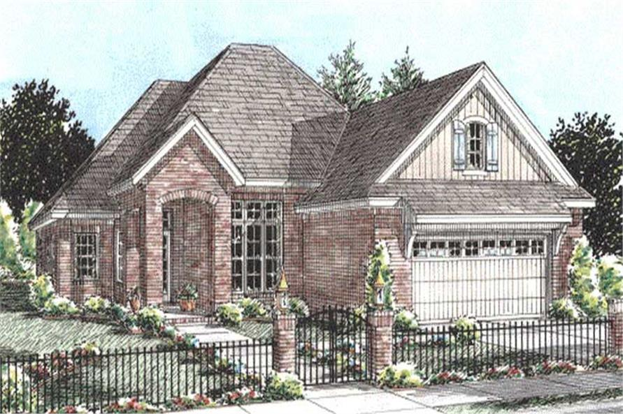3-Bedroom, 1692 Sq Ft Ranch House Plan - 178-1200 - Front Exterior
