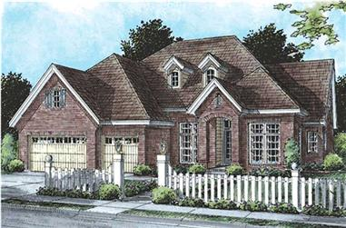 Front elevation of Cape Cod home (ThePlanCollection: House Plan #178-1201)