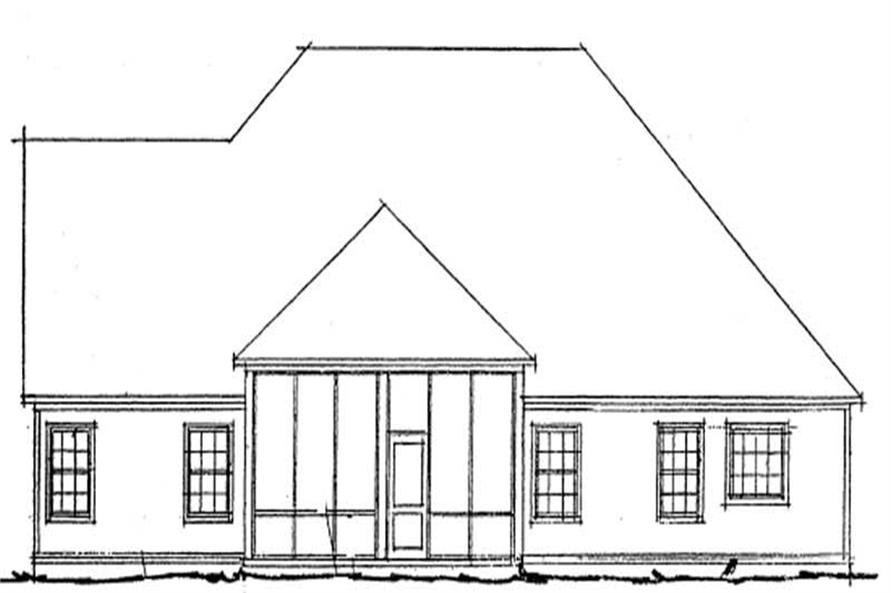 Home Plan Rear Elevation of this 4-Bedroom,2218 Sq Ft Plan -178-1201