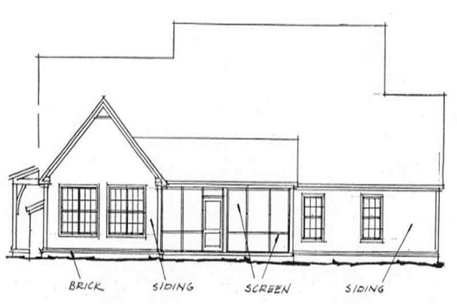 Home Plan Rear Elevation of this 4-Bedroom,2924 Sq Ft Plan -178-1206