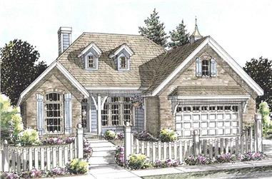 3-Bedroom, 1780 Sq Ft Cape Cod House Plan - 178-1207 - Front Exterior