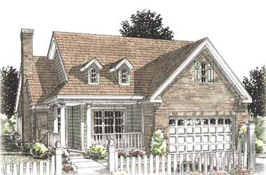 2-Bedroom, 1425 Sq Ft Cape Cod House Plan - 178-1208 - Front Exterior