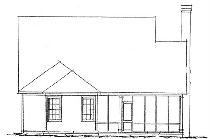 Home Plan Rear Elevation of this 2-Bedroom,1425 Sq Ft Plan -178-1208