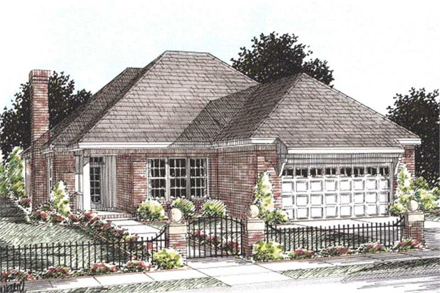 2-Bedroom, 1425 Sq Ft Ranch House Plan - 178-1209 - Front Exterior