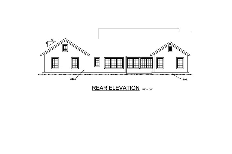 178-1212: Home Plan Rear Elevation