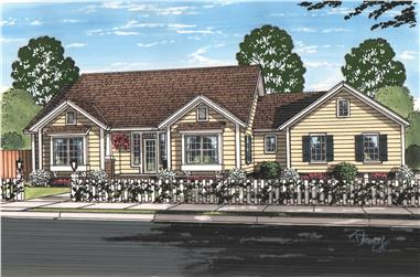 3-Bedroom, 1694 Sq Ft Cottage House Plan - 178-1212 - Front Exterior