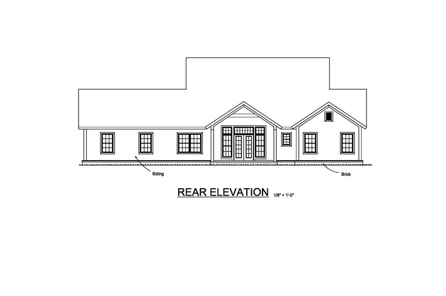 178-1213: Home Plan Rear Elevation