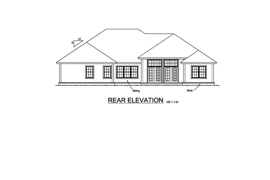 178-1214: Home Plan Rear Elevation