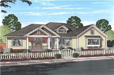 4-Bedroom, 2193 Sq Ft Cottage House Plan - 178-1214 - Front Exterior