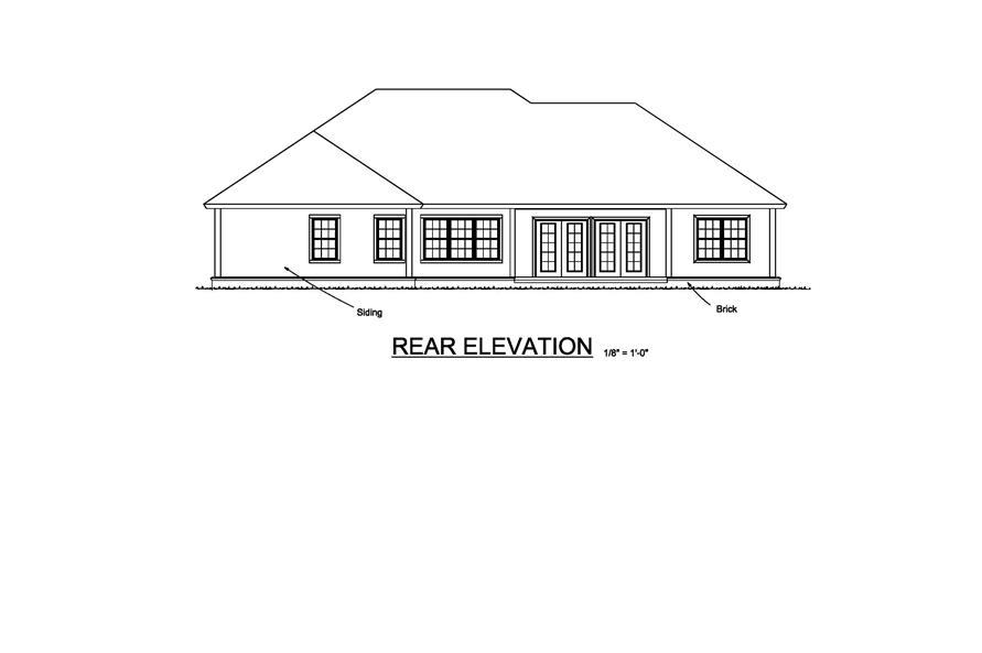 178-1215: Home Plan Rear Elevation