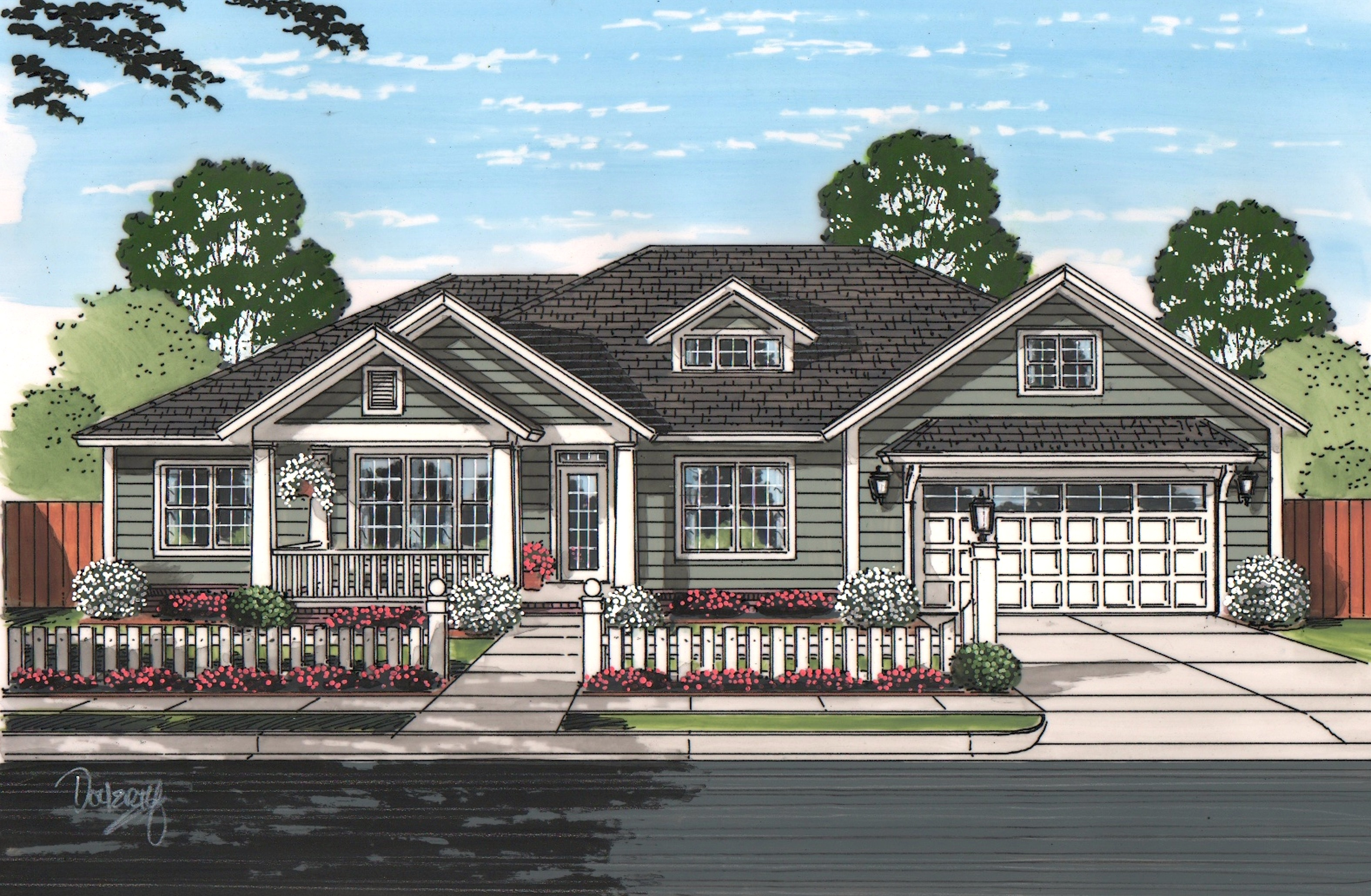 Ranch Floor Plan 3 Bedrms 2 Baths 1934 Sq Ft 178 1215