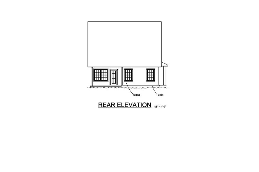 178-1216: Home Plan Rear Elevation