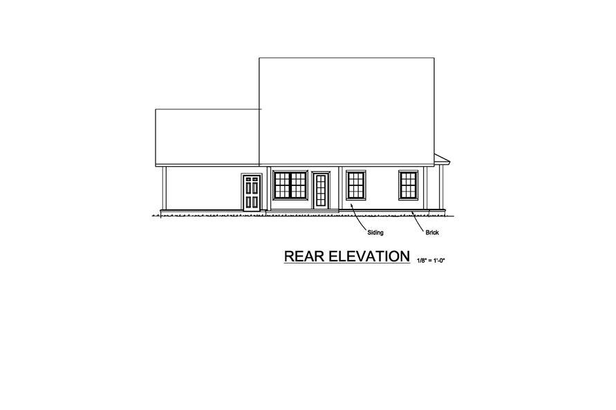 178-1217: Home Plan Rear Elevation