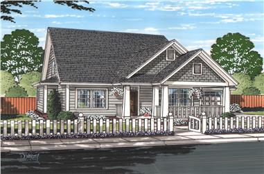 4-Bedroom, 1940 Sq Ft Cottage Home - Plan #178-1217 - Main Exterior
