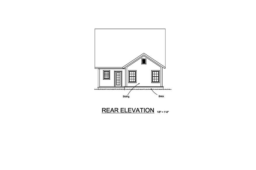 178-1218: Home Plan Rear Elevation