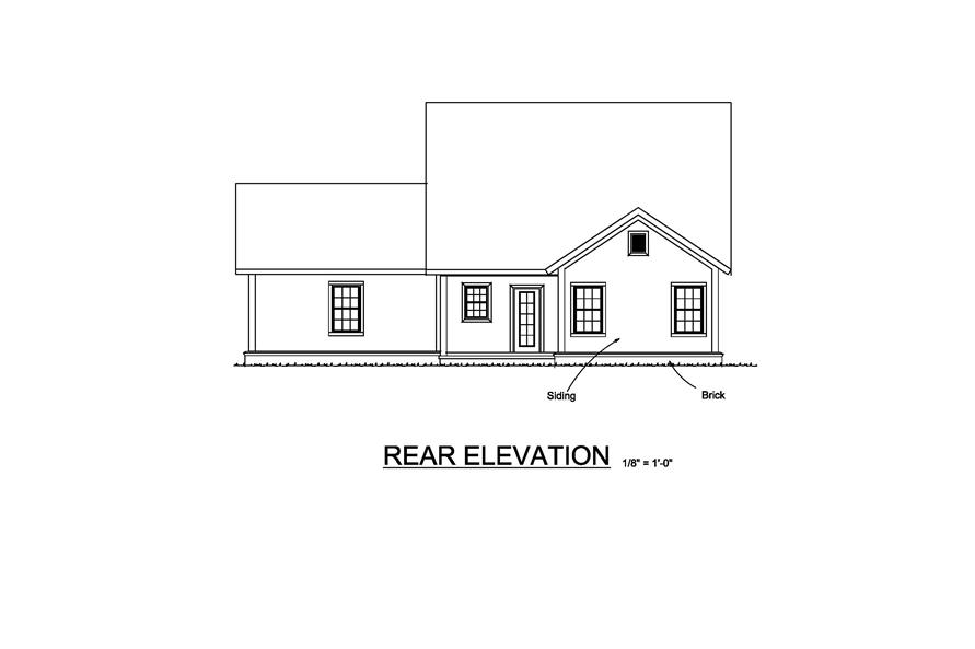 178-1219: Home Plan Rear Elevation