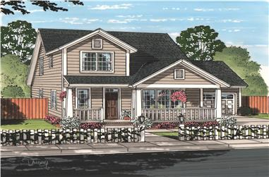 4-Bedroom, 2232 Sq Ft Cottage Home Plan - 178-1219 - Main Exterior