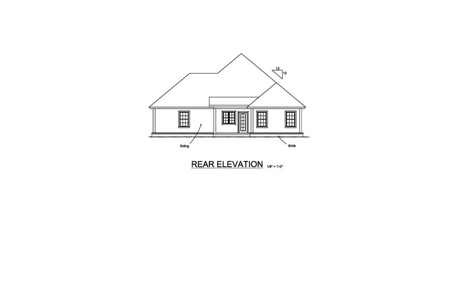 178-1220: Home Plan Rear Elevation