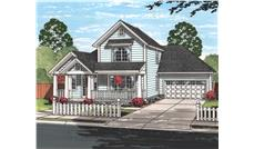Front elevation of Cottage home (ThePlanCollection: House Plan #178-1220)