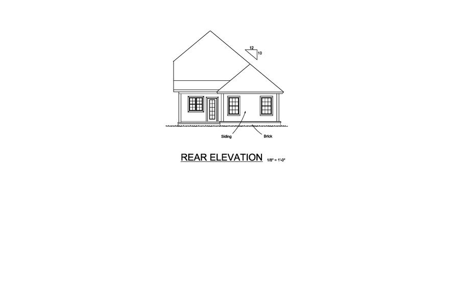 178-1221: Home Plan Rear Elevation