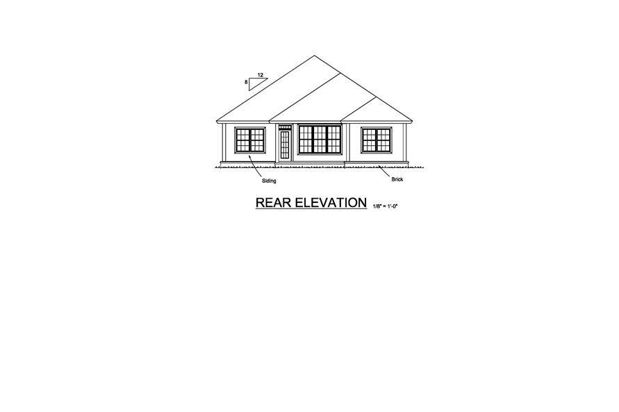 178-1222: Home Plan Rear Elevation