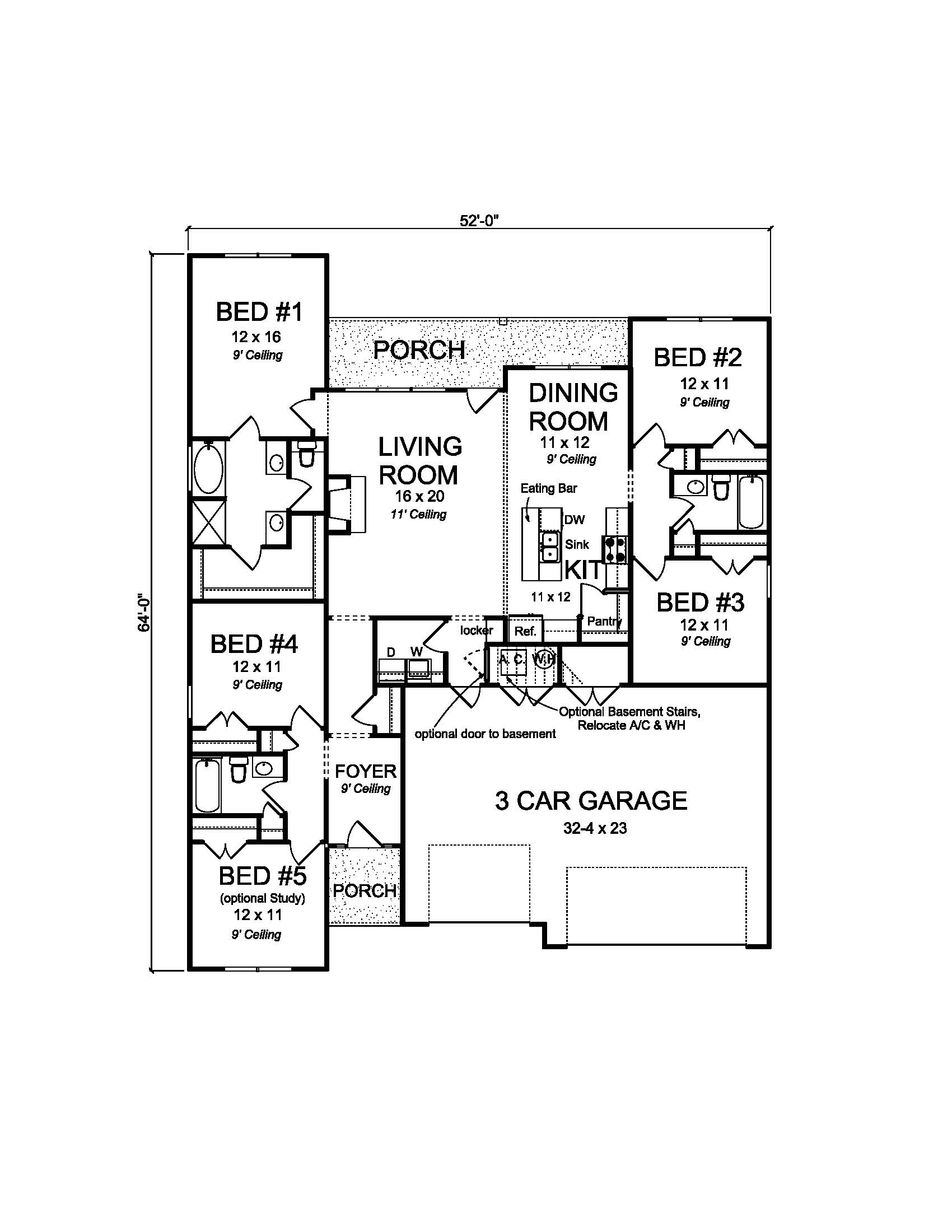 Texas style ranch house plan 178 1223 5 bedrm 1996 sq for Southfork ranch house floor plan