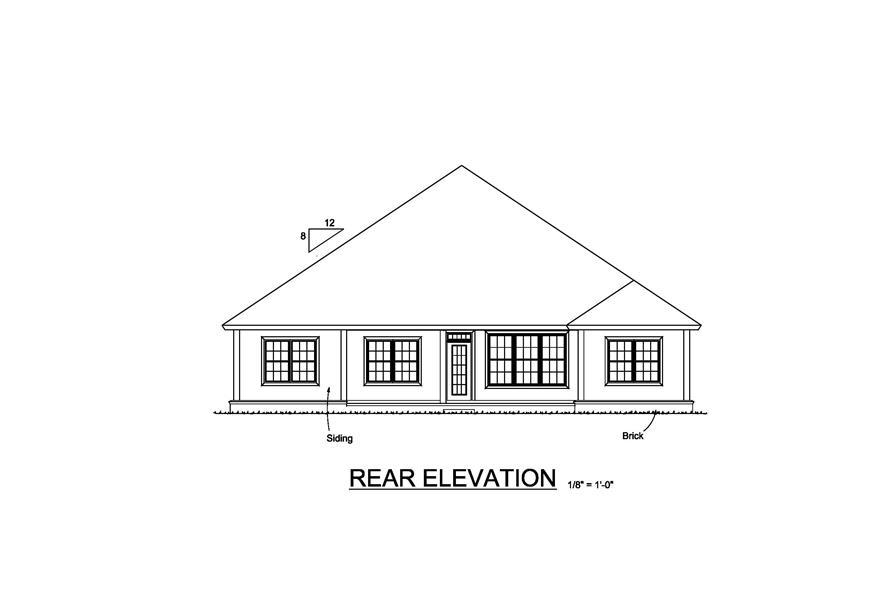 178-1223: Home Plan Rear Elevation