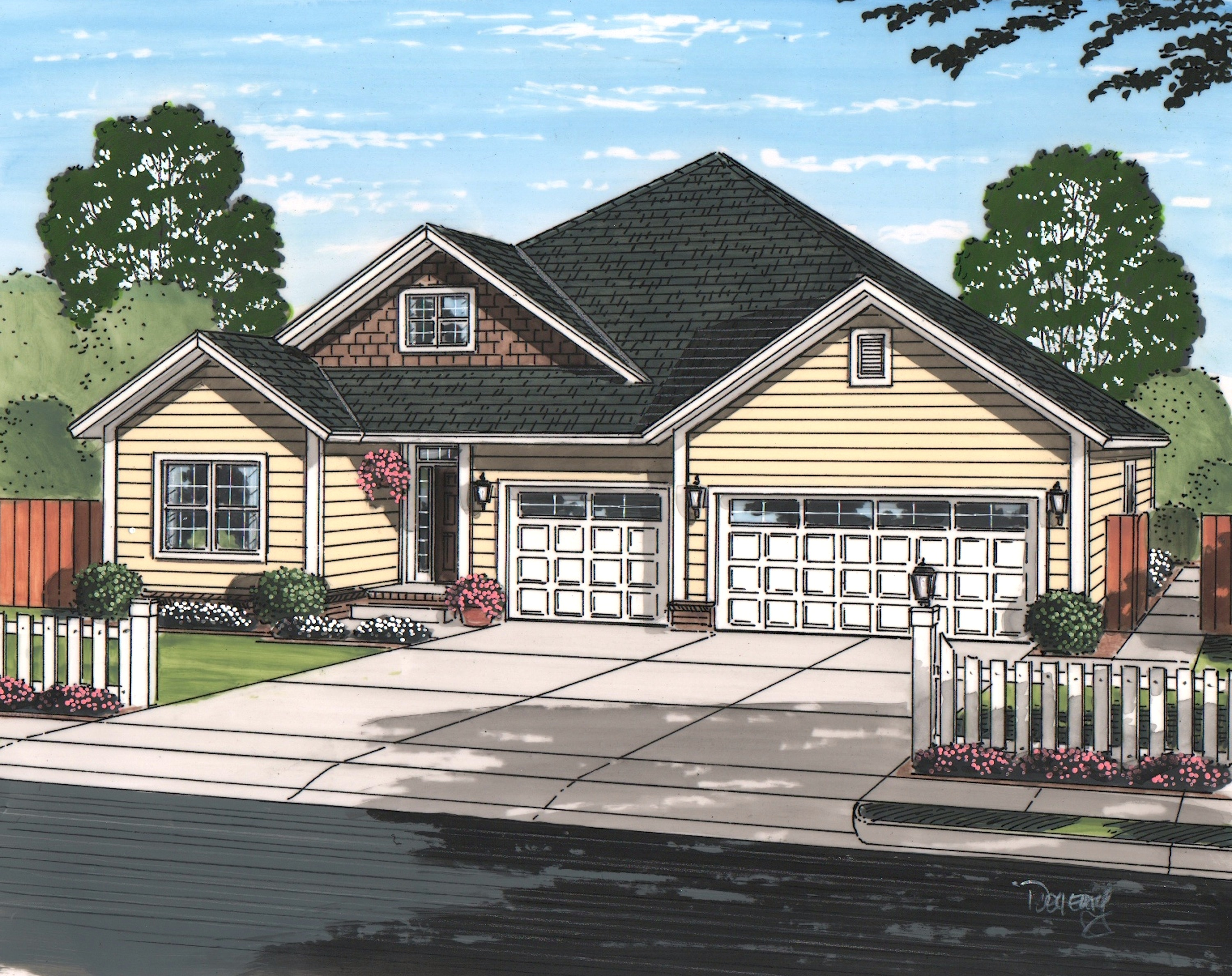 Texas style ranch house plan 178 1223 5 bedrm 1996 sq for Texas style ranch house plans