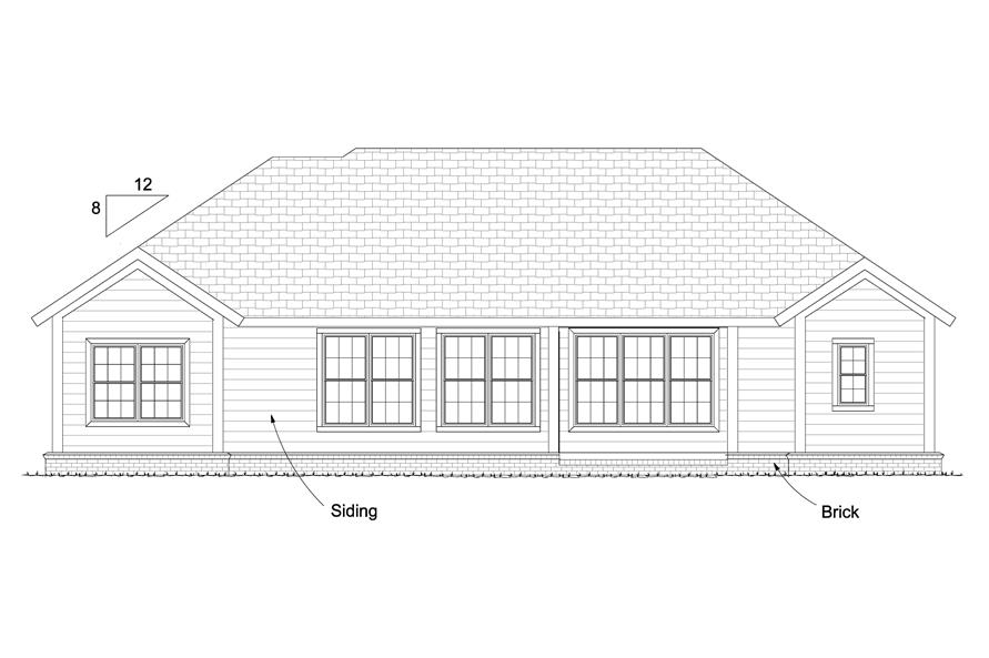 178-1224: Home Plan Rear Elevation
