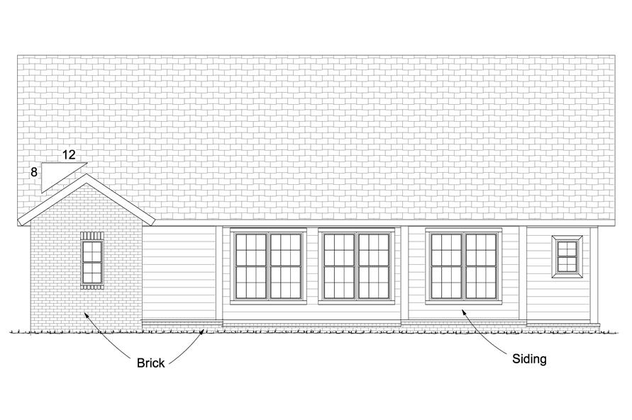178-1225: Home Plan Rear Elevation