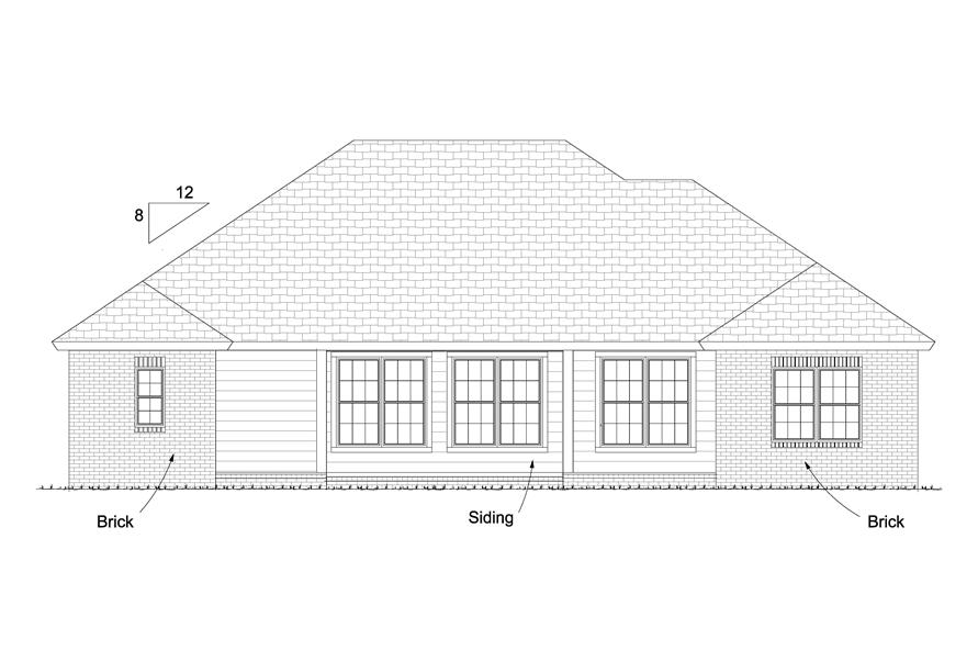 178-1227: Home Plan Rear Elevation