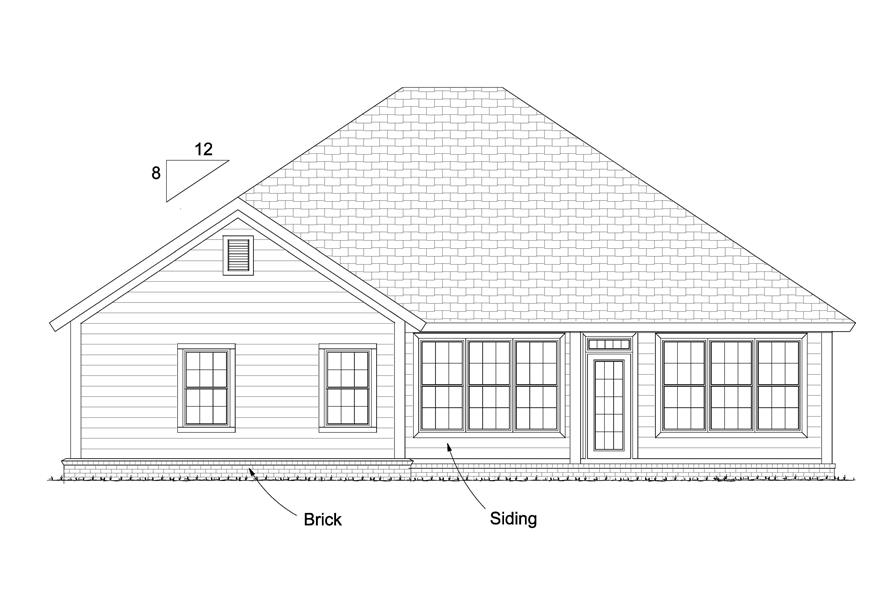 178-1228: Home Plan Rear Elevation