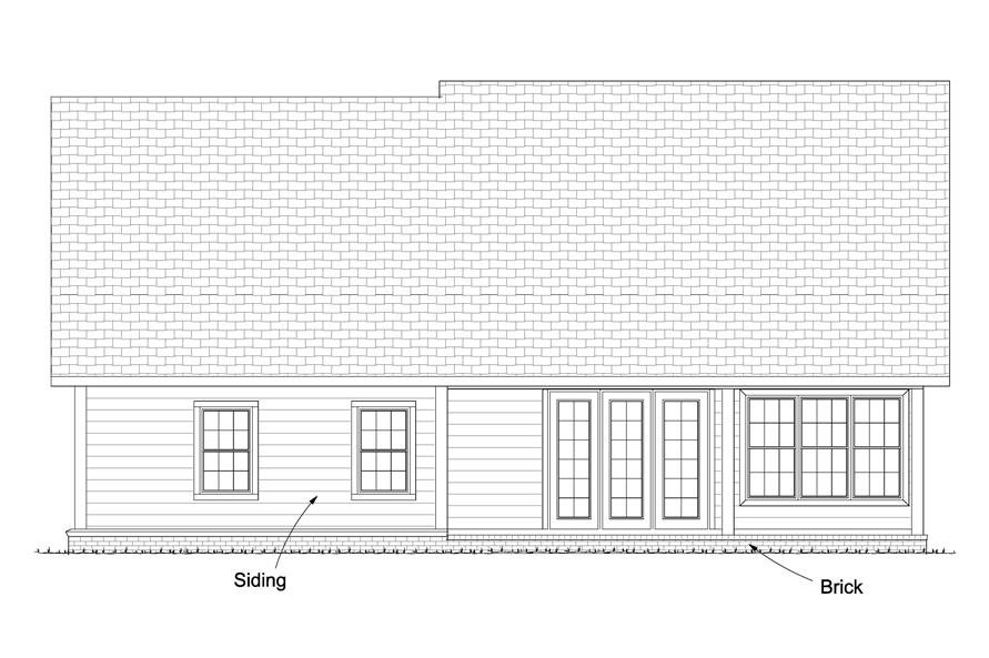 178-1229: Home Plan Rear Elevation