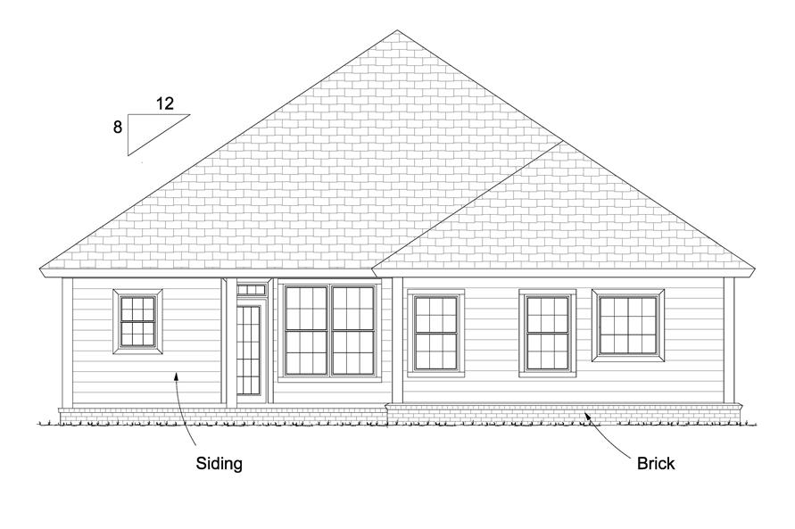 178-1230: Home Plan Rear Elevation