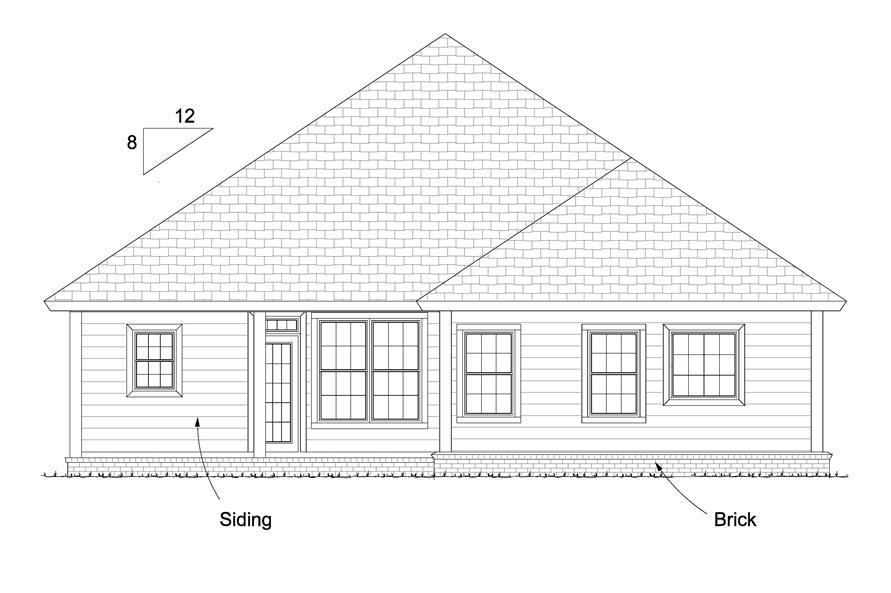 178-1231: Home Plan Rear Elevation
