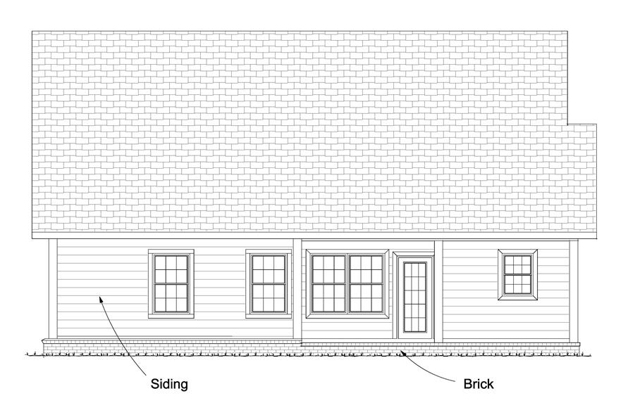 178-1232: Home Plan Rear Elevation