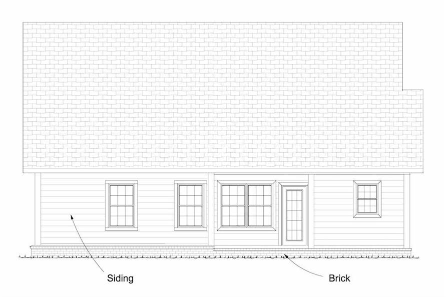 Home Plan Rear Elevation of this 3-Bedroom,1892 Sq Ft Plan -178-1232
