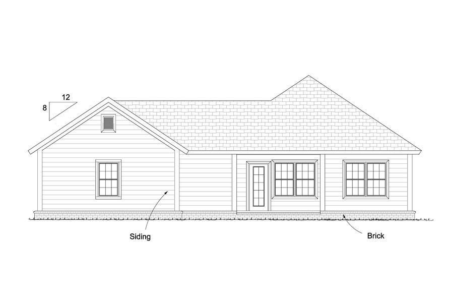 178-1233: Home Plan Rear Elevation