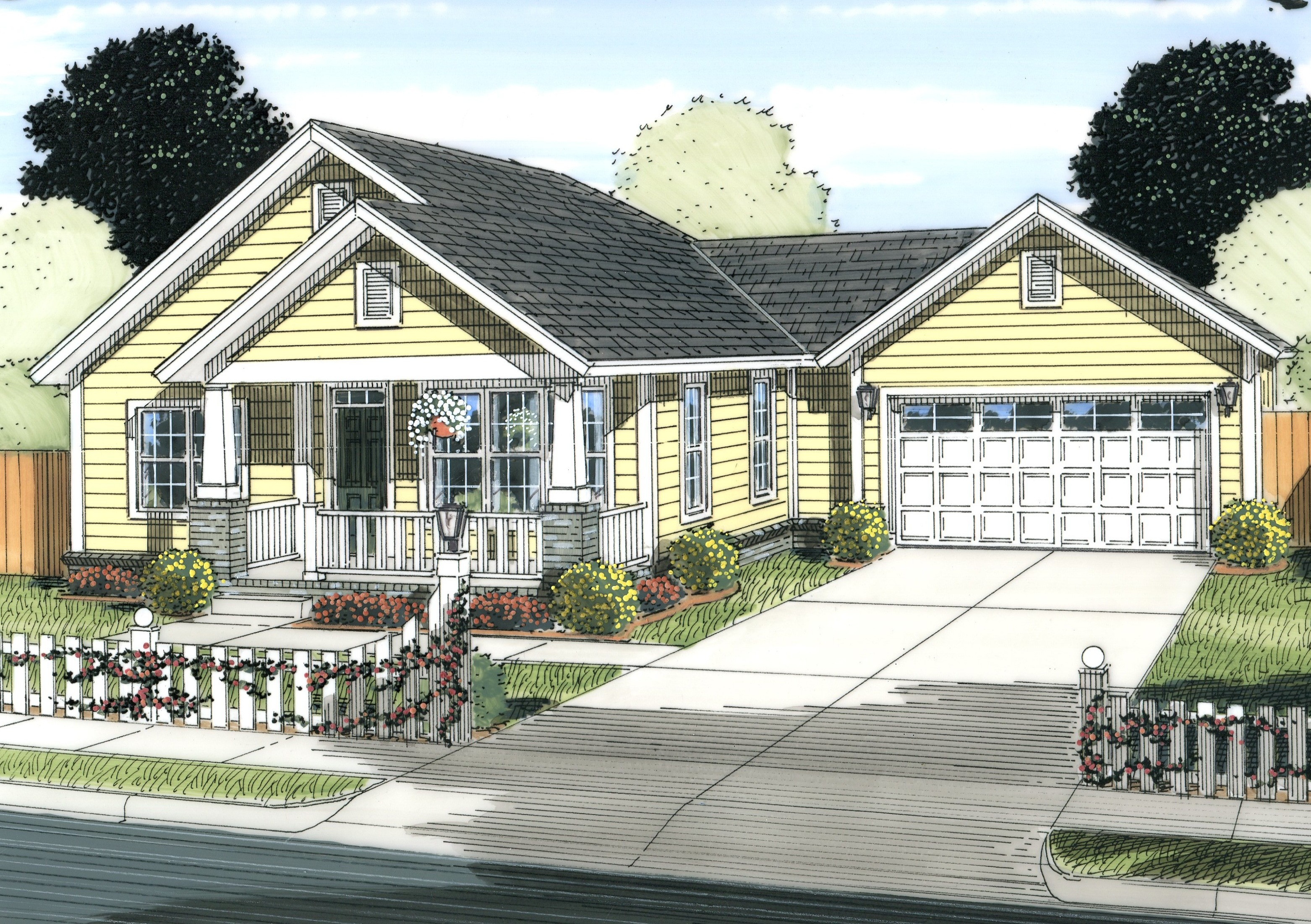 Front Elevation Cottage : Cottage house plan bedrms baths sq ft