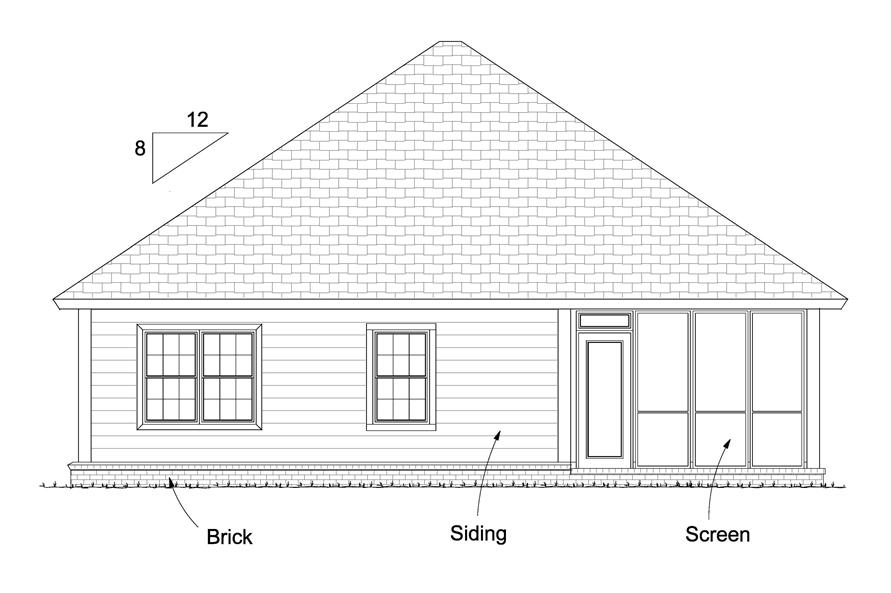 178-1234: Home Plan Rear Elevation