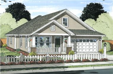 3-Bedroom, 1581 Sq Ft Cottage Home Plan - 178-1234 - Main Exterior
